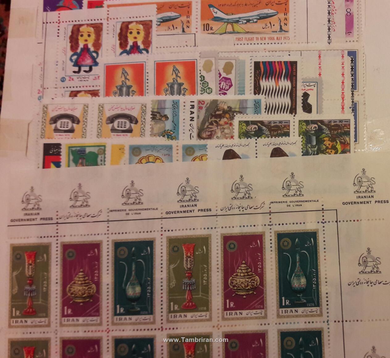 نتیجه تصویری برای تمبر بلوک سال 54