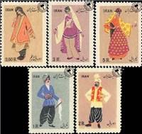 لباس های محلی ایران اسکناس و تمبر ایران